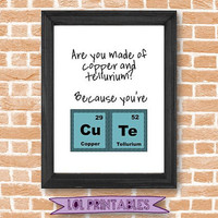 Printable wall funny decor art quote science chemistry joke