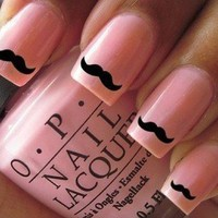 60x Movember, Nail Wraps/ Art Cute little Black moustache nail decals 24hr Dispatch: Beauty