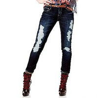 Decree® Destructed Skinny Jean W3352 : jcpenney