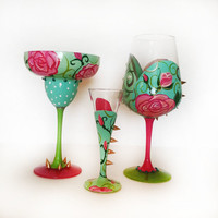 Tart Collection – margarita glass – shot glass – wine glass
