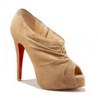 Christian Louboutin Booties Treopli 120mm Camel
