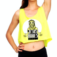 Jesus Raves Crop Top
