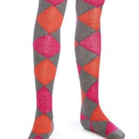 HUE Girls Argyle Sweater Tights
