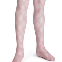 Floral Trellis Tights - HUE Girls Floral Trellis Tights