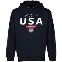 USA Swimming Property Of Pullover Hoodie - Navy Blue