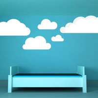Clouds, Set of 8, Sky, Puffs, Water, Decal, Vinyl, Sticker, Wall Decor