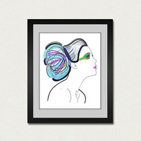 Fashion Illustration Art Print. Fine art print.