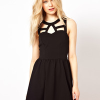 River Island Cut Out Skater Dress
