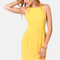 Aryn K Zest and Brightest Yellow Dress