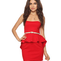 High-Low Peplum Dress | FOREVER21 - 2000037662