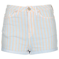 MOTO Blue Pastel Strip Hotpants - New In This Week  - New In
