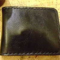 SALE Classic Black leather man's wallet  handmade