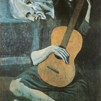 The Old Guitarist, c.1903 Prints by Pablo Picasso at AllPosters.com