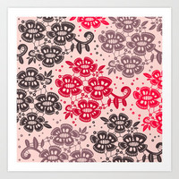 Floral Pattern #15 Art Print by Ornaart