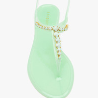 A'GACI Hawaii 23 Stone T Strap Jelly Sandal - New Arrivals