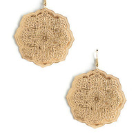 Golden Flower Earrings (20% off) by LYLIFclothing - Chictopia