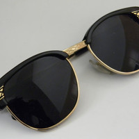 Vintage Deadstock CLUBMASTER Sunglasses BLACK by VintageSunnys