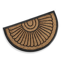 Koko Peacock Fan Rubber Doormat - Bed Bath & Beyond