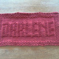 Hand Knit Darlene Personalized Name Dish Cloth Wash Cloth