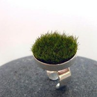 Gather Circle Moss Ring by AdornJewelry on Etsy