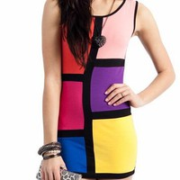colorblock tank dress &amp;#36;21.90 in MULTI - Casual | GoJane.com