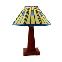Table Lamp Mission/Arts and Crafts Stained Glass | GrandPrairieWoodworks - Woodworking on ArtFire