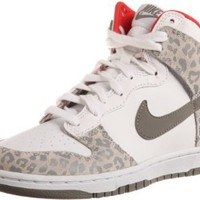 Nike Wmns Dunk High Skinny Leopard - White Medium Grey (429984-102): Shoes