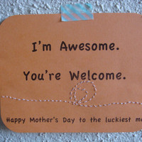 Funny Mother&#x27;s Day Card EcoFriendly by CraftColorfully on Etsy