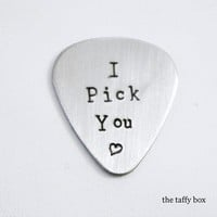 Stainless Steel Hand Stamped Guitar Pick on Luulla