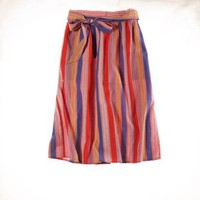 Aerie striped midi skirt
