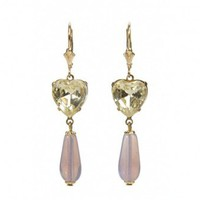Lemon Heart Amethyst Opal Earrings from Passionate About Vintage | Made By Passionate About Vintage | £45.00 | Bouf