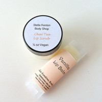 Vegan Vanilla Chai Lip Care Set, Lip Balm and Lip Scrub