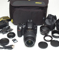 Nikon D3100 camera 3 three lenses VR zoom kit DSLR 8gb mint macro bag