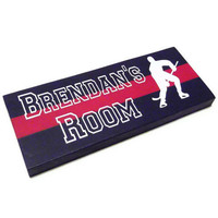 Hockey Room Decor  Custom Name Sign by HookUUpCustomCrafts on Etsy
