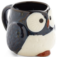 Owl Warm and Cozy Mug in Navy | Mod Retro Vintage Kitchen | ModCloth.com