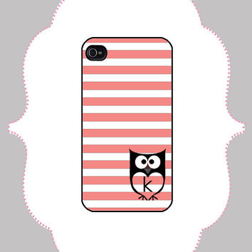iPhone Case - Owl Monogram -iPhone 4/4s Case, iPhone 5 Case