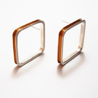 Large Square Earrings with Wire from Filip Vanas Jewellery | Made By Filip Vanas | £172.00 | Bouf