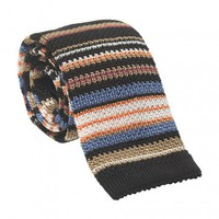 Men's Neckties: Multi Stripe Knit Silk Tie for Men