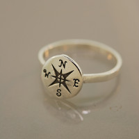 Compass Ring by TeriLeeJewelry on Etsy