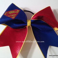 Super Steel Medium Youth Cheer Bow Hair Bow Cheerleading