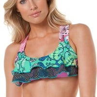 MAAJI FLORAL SONAR TOP  Womens  Clothing  Swimwear | Swell.com