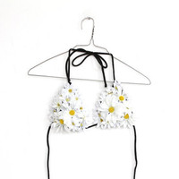 DAISY POP flower bikini handmade one off by napkinitems on Etsy