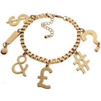 ROMWE | Contrasting Sign Charm Bracelet, The Latest Street Fashion