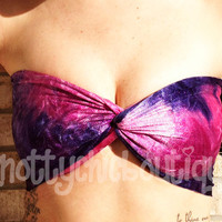 GALAXY BANDEAU wrap hot summer coachella EDM trendy purple pink
