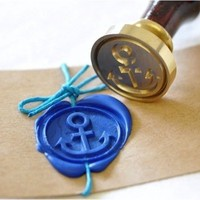 Anchor Gold Plated Wax Seal Stamp + Sealing Wax