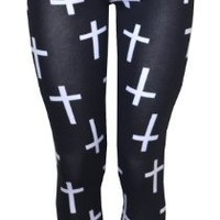 Vip Boutique Cross Printed Leggings: Clothing