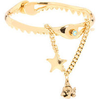 Disney Couture Little Mermaid Hinged Shark Jaw Bracelet Gold - Zappos.com Free Shipping BOTH Ways