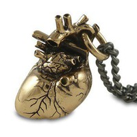 Anatomical Heart Necklace - Bronze - Guys