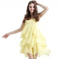 Bqueen Round Neck Straps Chiffon Dress Q10405Y - Designer Shoes|Bqueenshoes.com