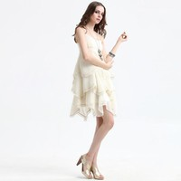 Bqueen Round Neck Straps Chiffon Dress Q10405X - Designer Shoes|Bqueenshoes.com
